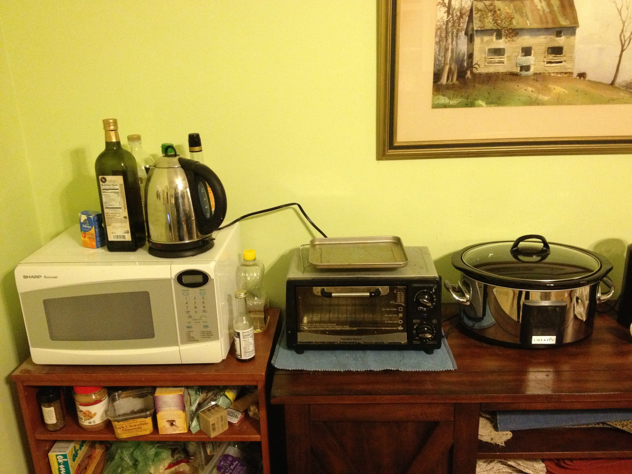 Our makeshift kitchen