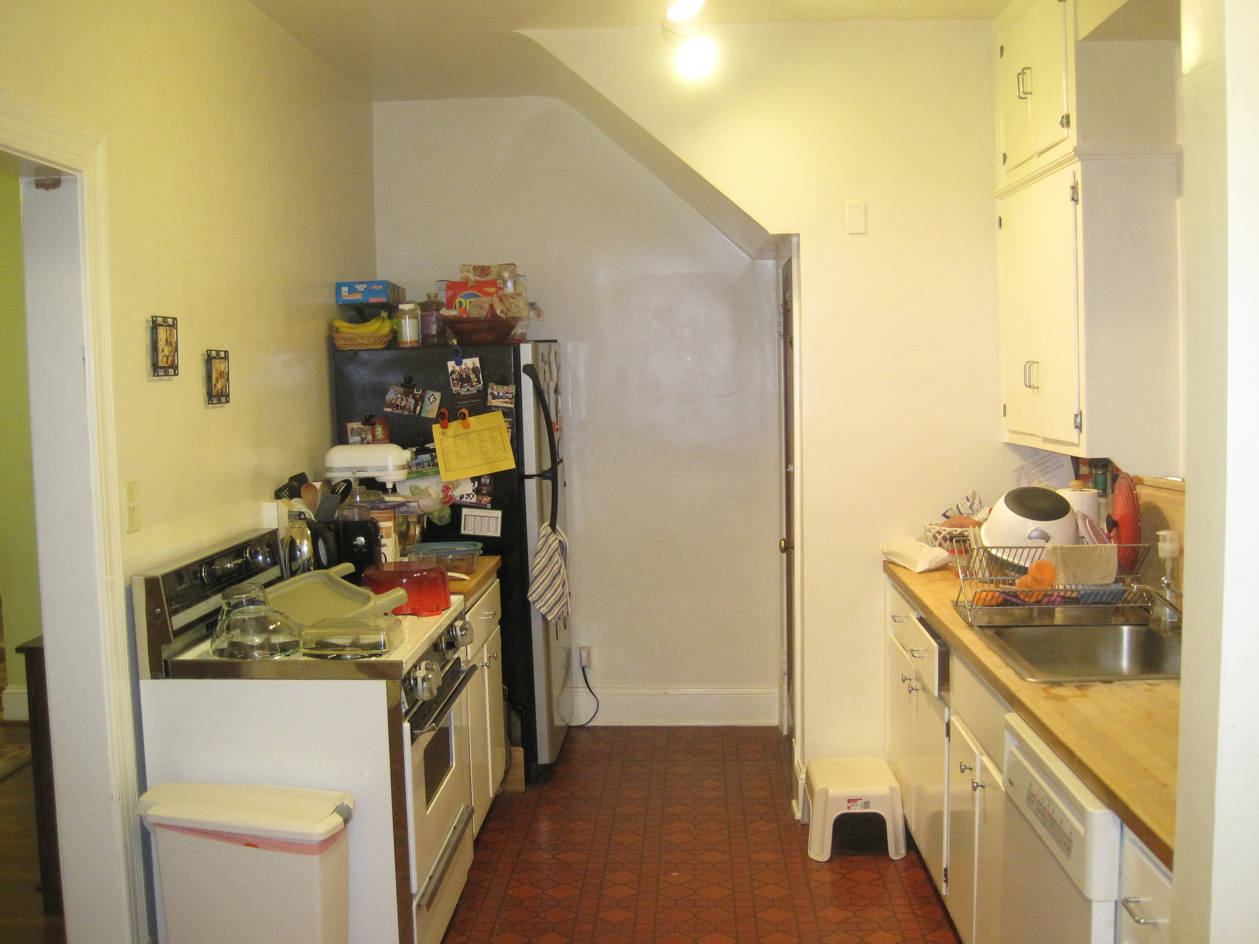 One view of the old kitchen