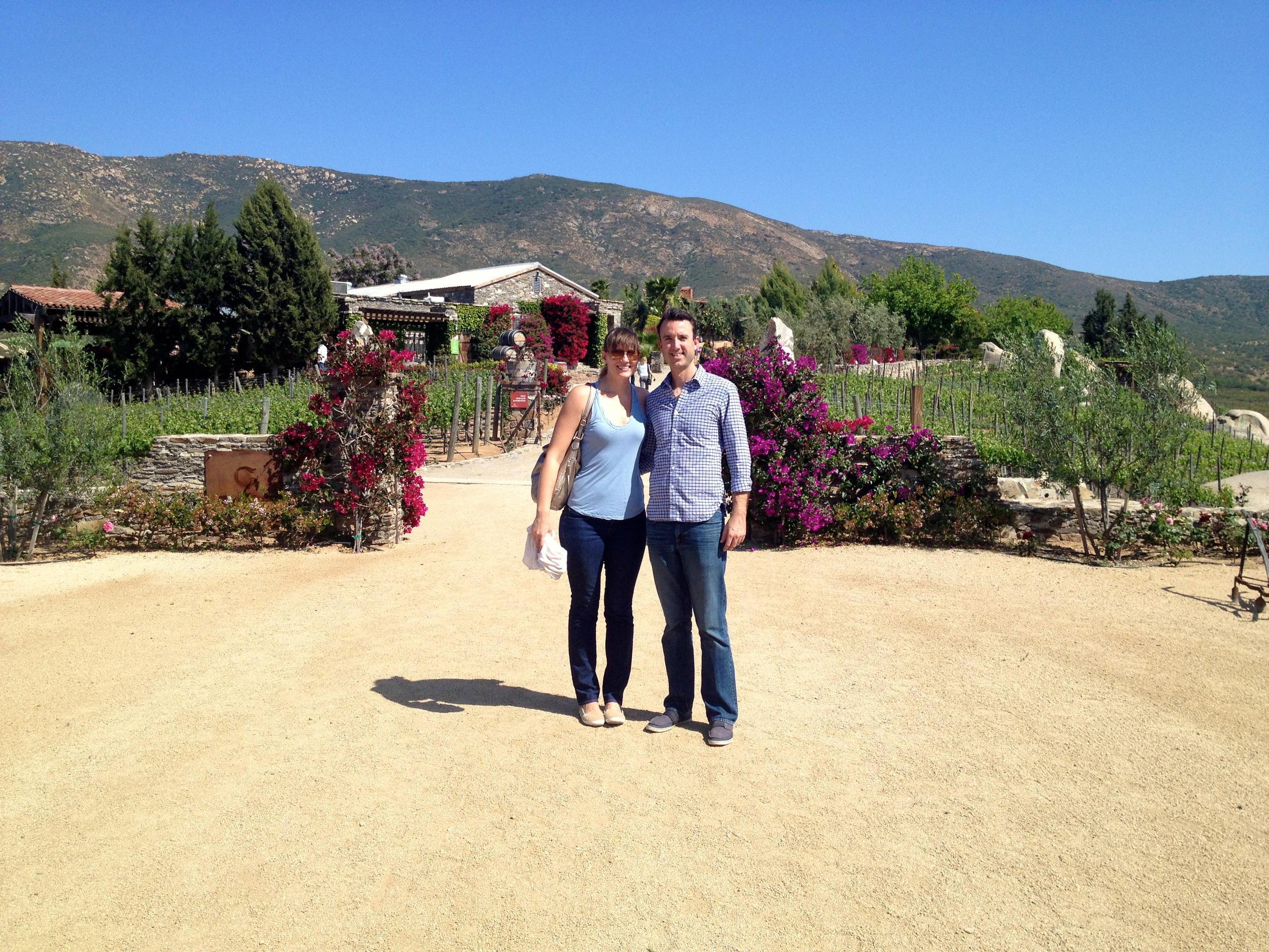 Out front at Vinas de Garza