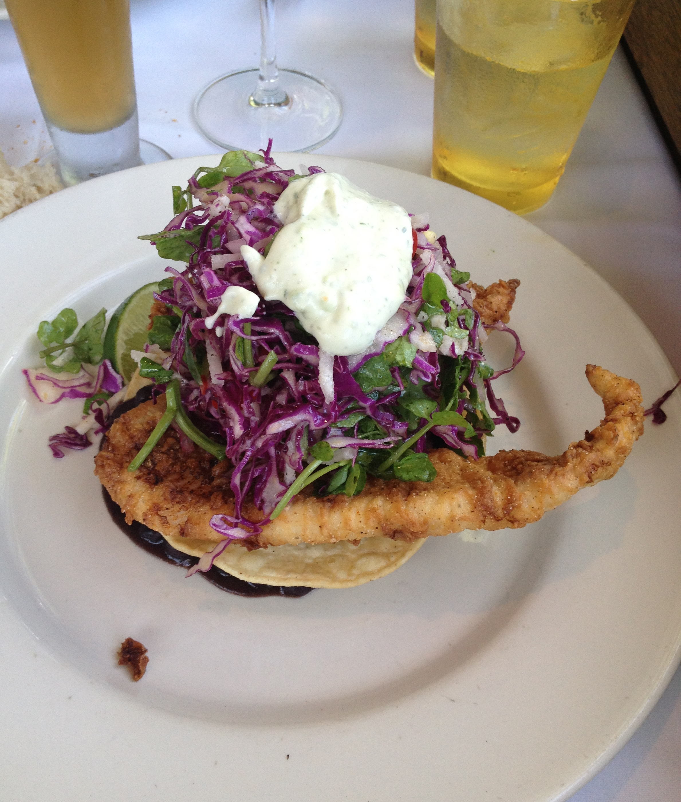 Seafood Tostada at Mustards Grill