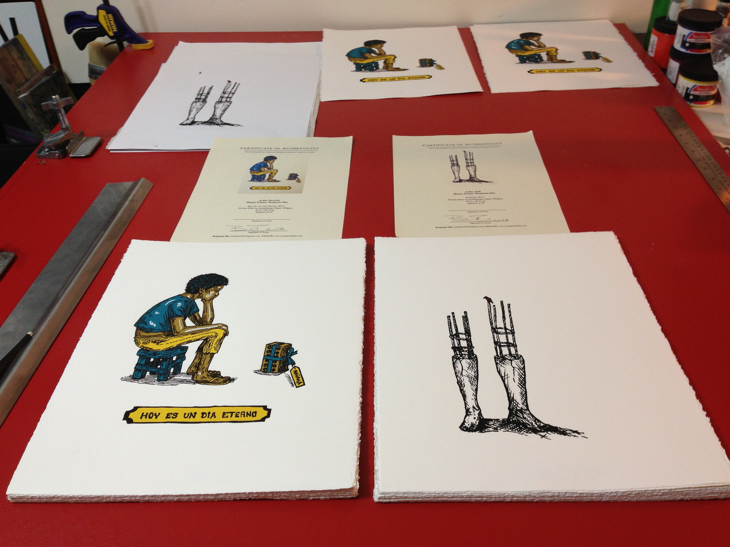 Two editions of 25 prints each