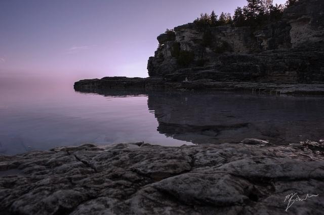Indian Head Cove at sunrise.