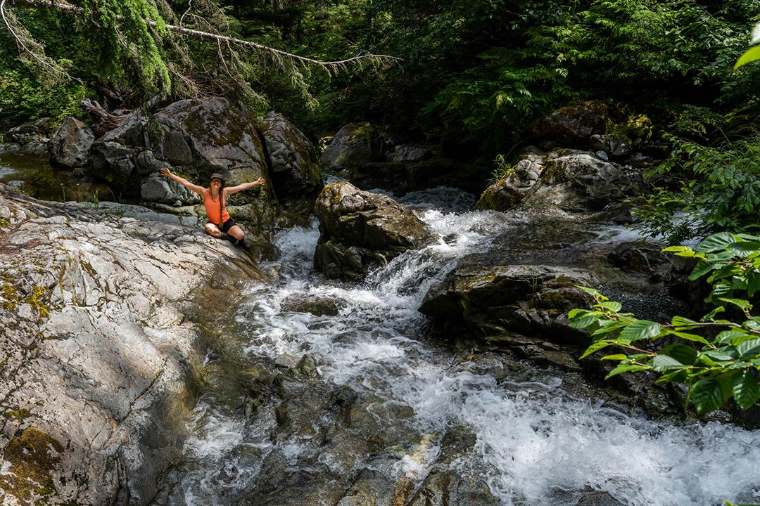 Kirsten loving life at Crooked Falls