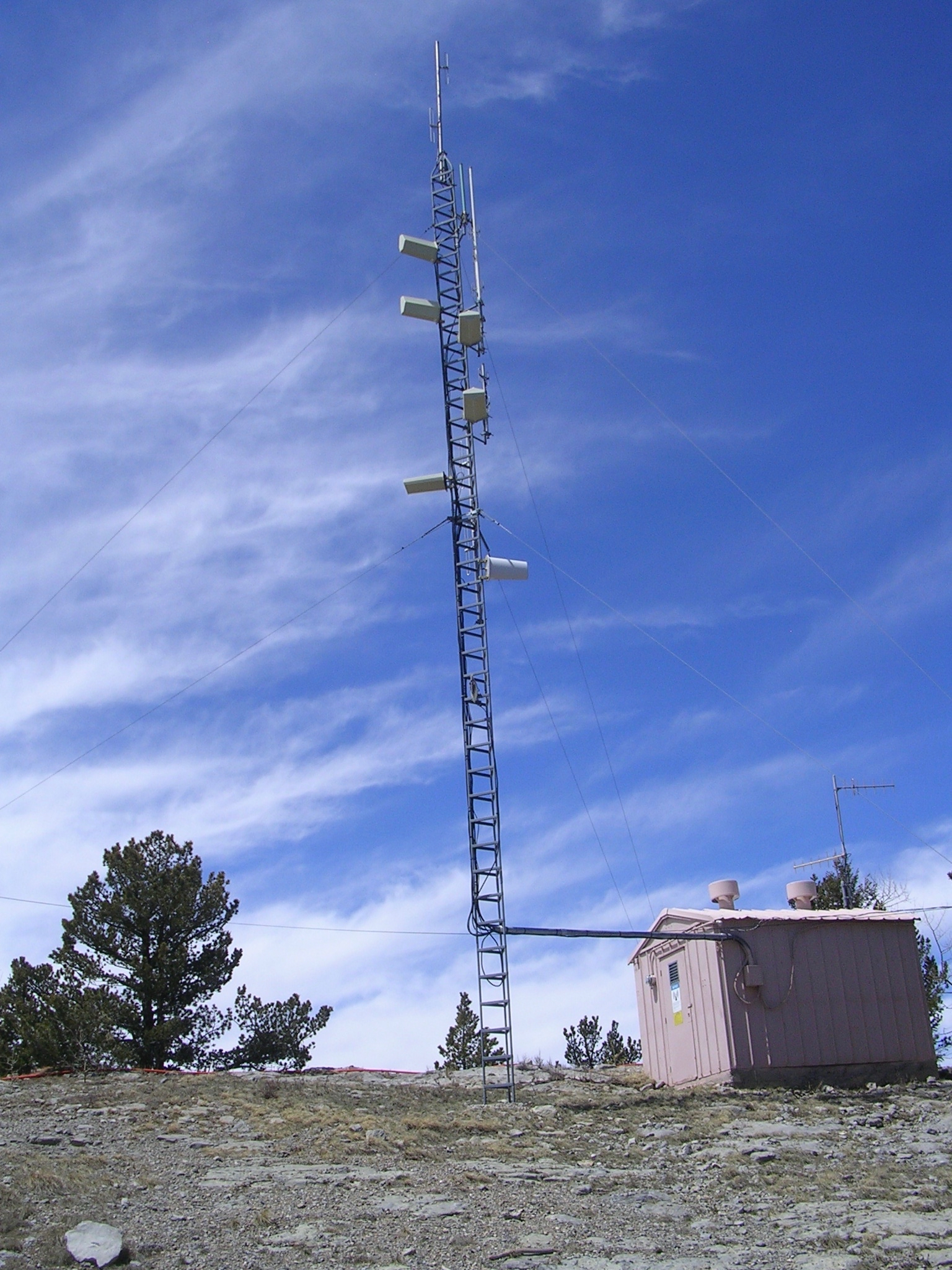 Caravan Club repeater site on Sandia Crest just east of Albuquerque