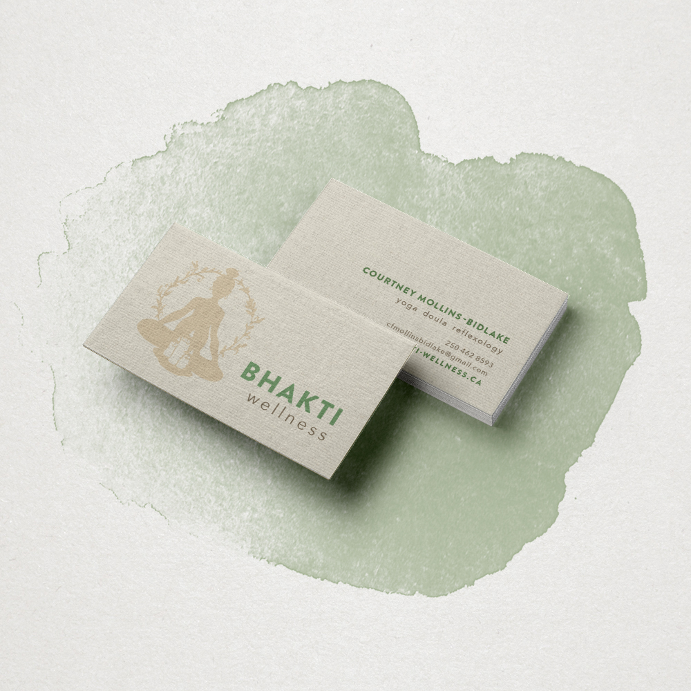 BHAKTI WELLNESSyoga, doula + reflexology services - Card design