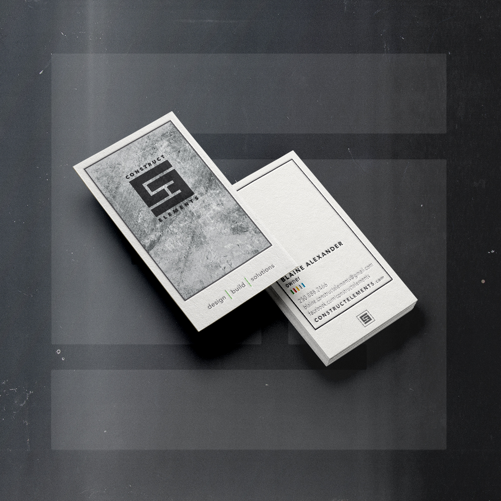 CONSTRUCT ELEMENTSdesign/buildconstruction firm - Logo design + card layout