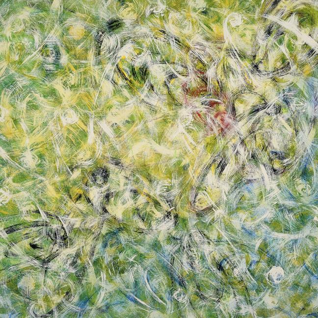Little Bo Peeping Tom   acrylic on linen, 36x36 in.