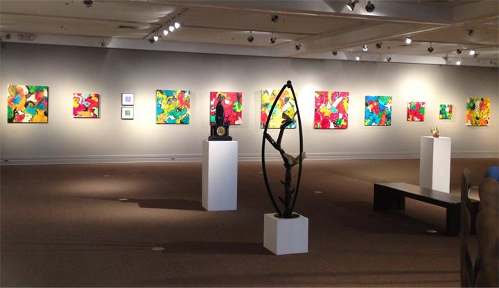 Durham Art Guild - 2012 exhibition - Warren Hicks, Kelly Cross, Renee Leverty and Linwood Hart.