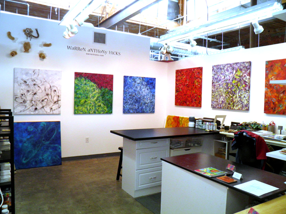 My studio at Golden Belt, Durham, NC