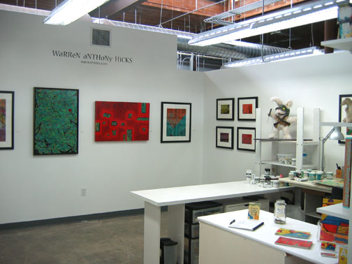 My studio at Golden Belt in downtown Durham, NC