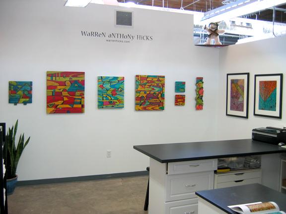 My studio in June, 2009 - Golden Belt Studios