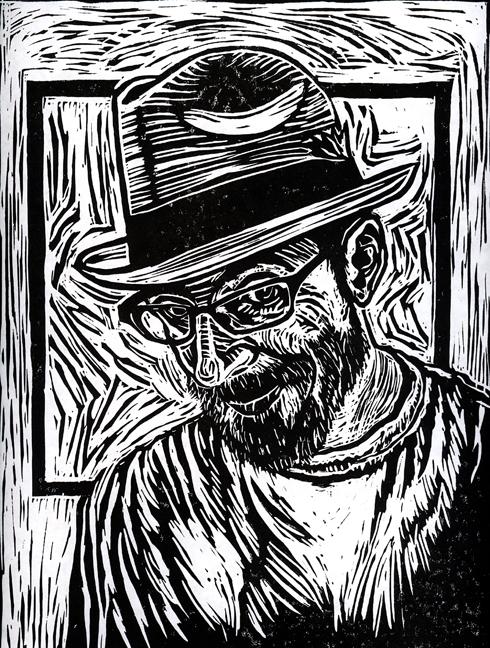 Lino-cut by  Helen Griffin .