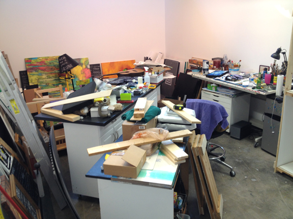 This is the new studio as of a few days ago. It's not much better today but it will be safe for passage Friday night.
