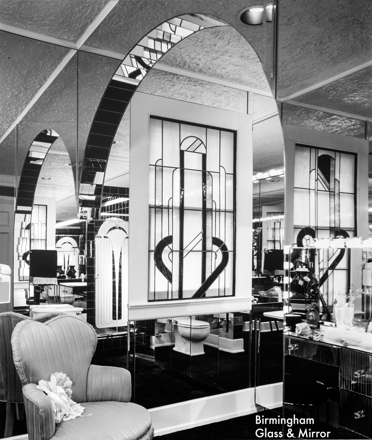 Photograph by Balthazar Korab of Art Deco style interior