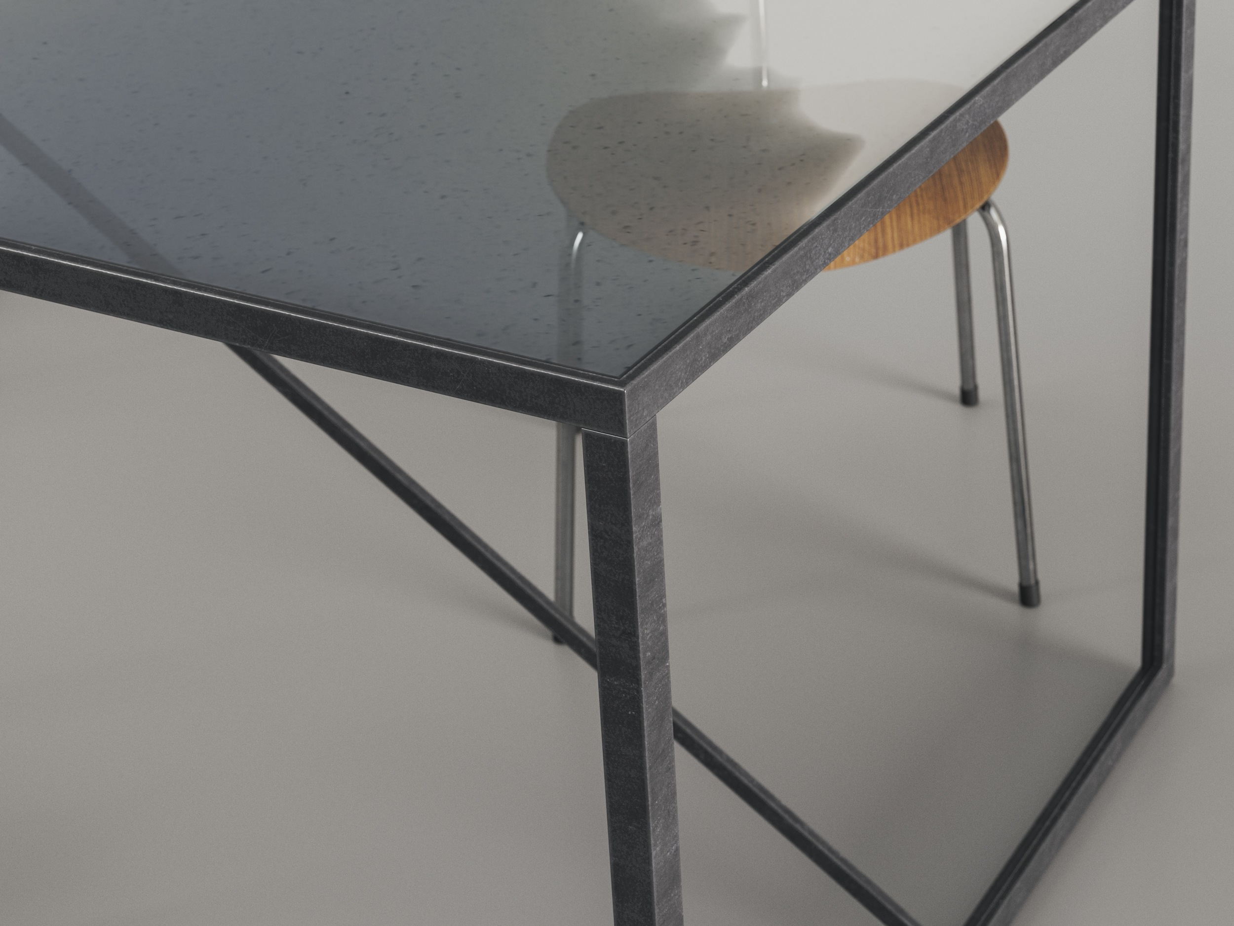 Angled View of Table by Birmingham Glass