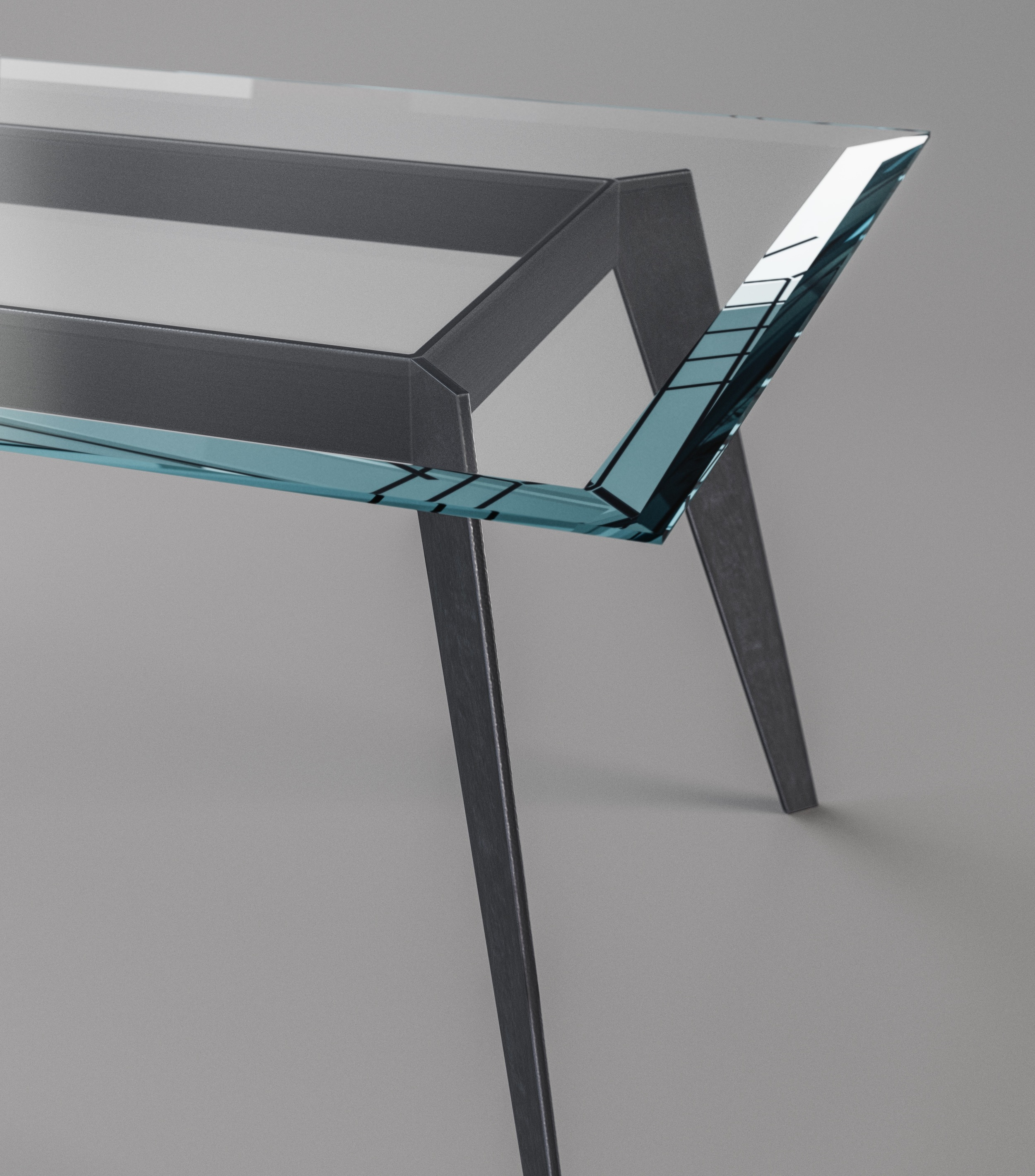 Top view of table