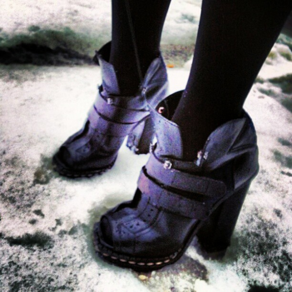 Our interpretation of Winter boots.