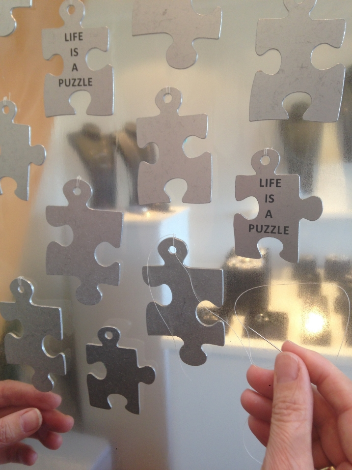 """""""LIFE IS A PUZZLE""""    """"SLOW WORKING""""  """"WORK IN PROGRESS"""""""