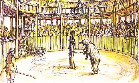 Bear baiting at the Paris Gardens