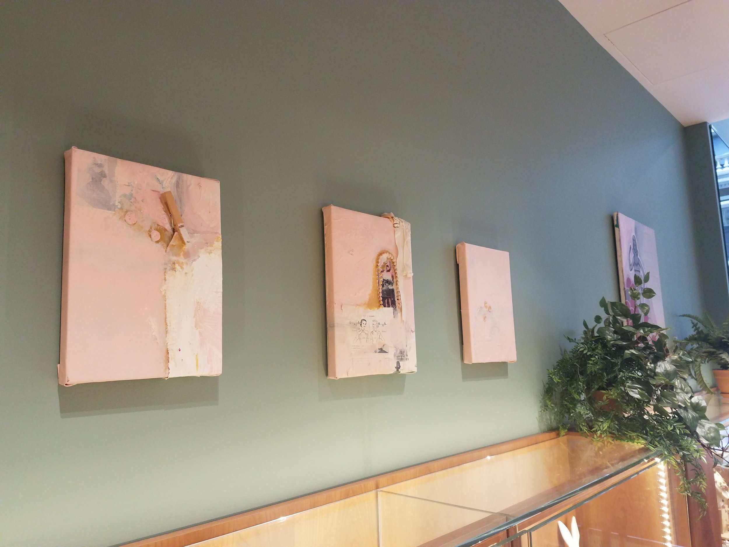 My reworked canvases at Les Nereides