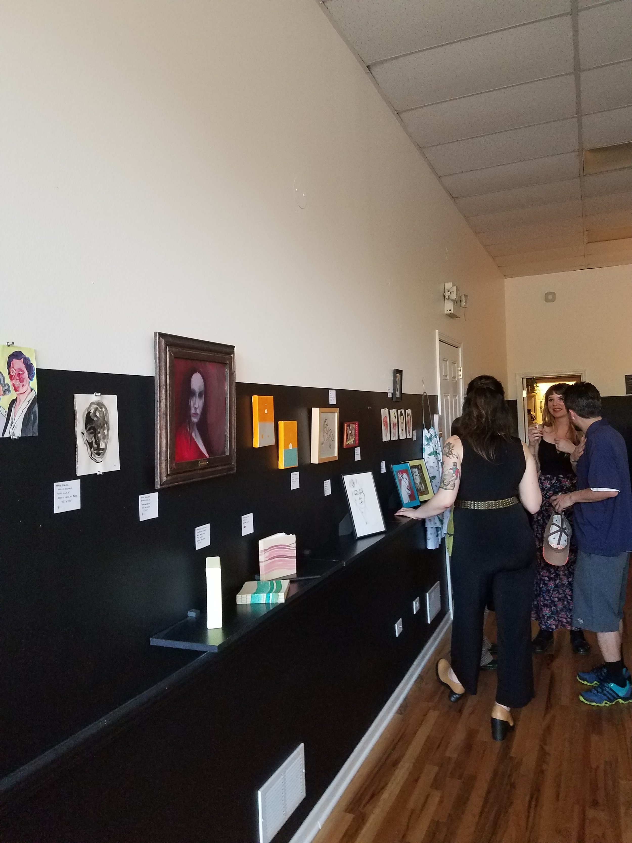 Great crowd for the Art for Eva auction