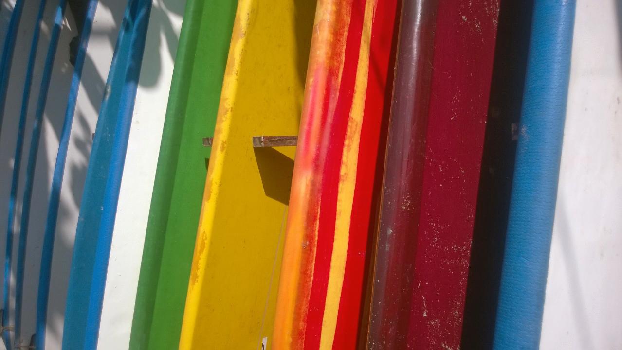Surf boards at Canggu