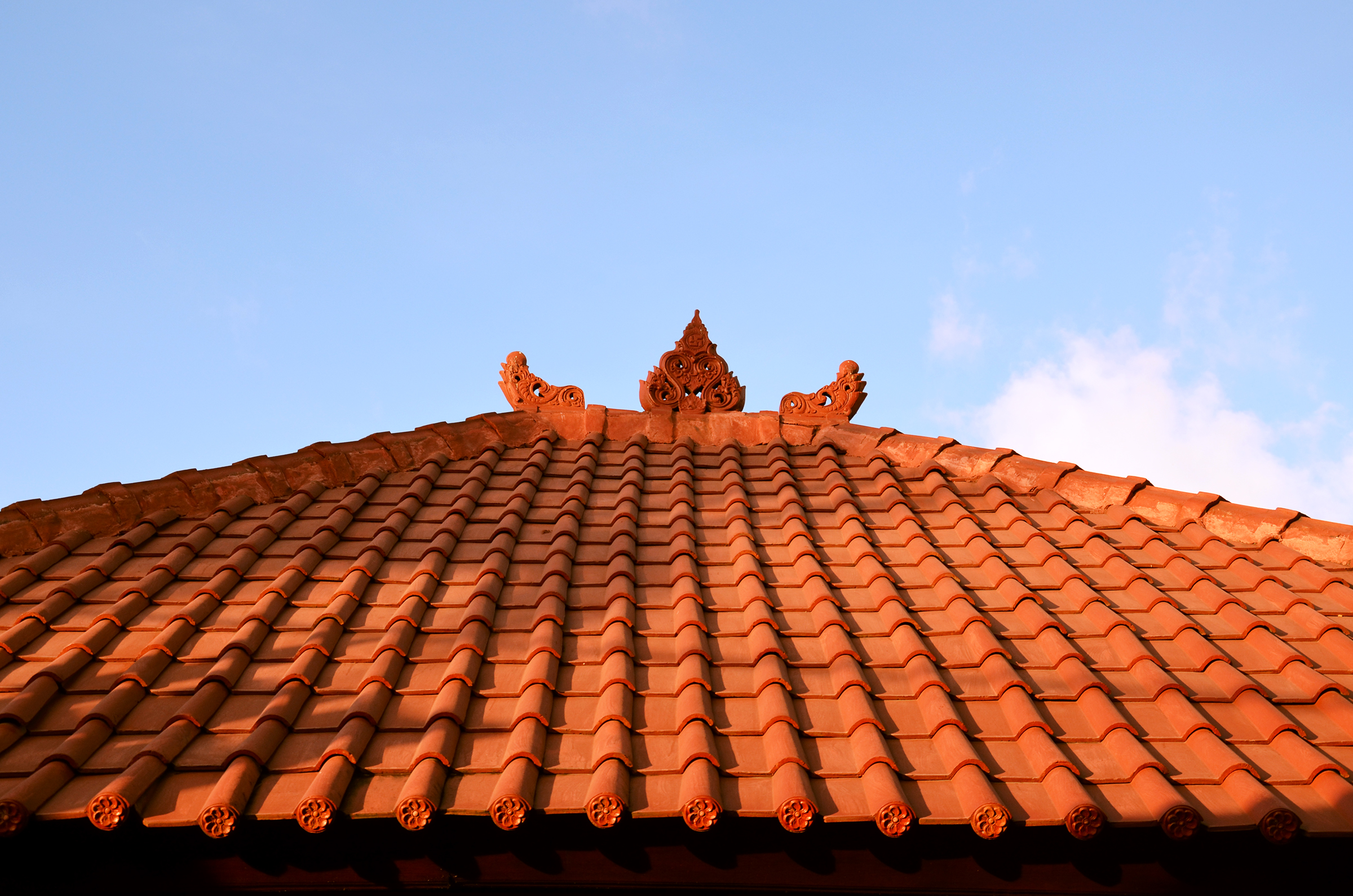 Roof top in the early morning