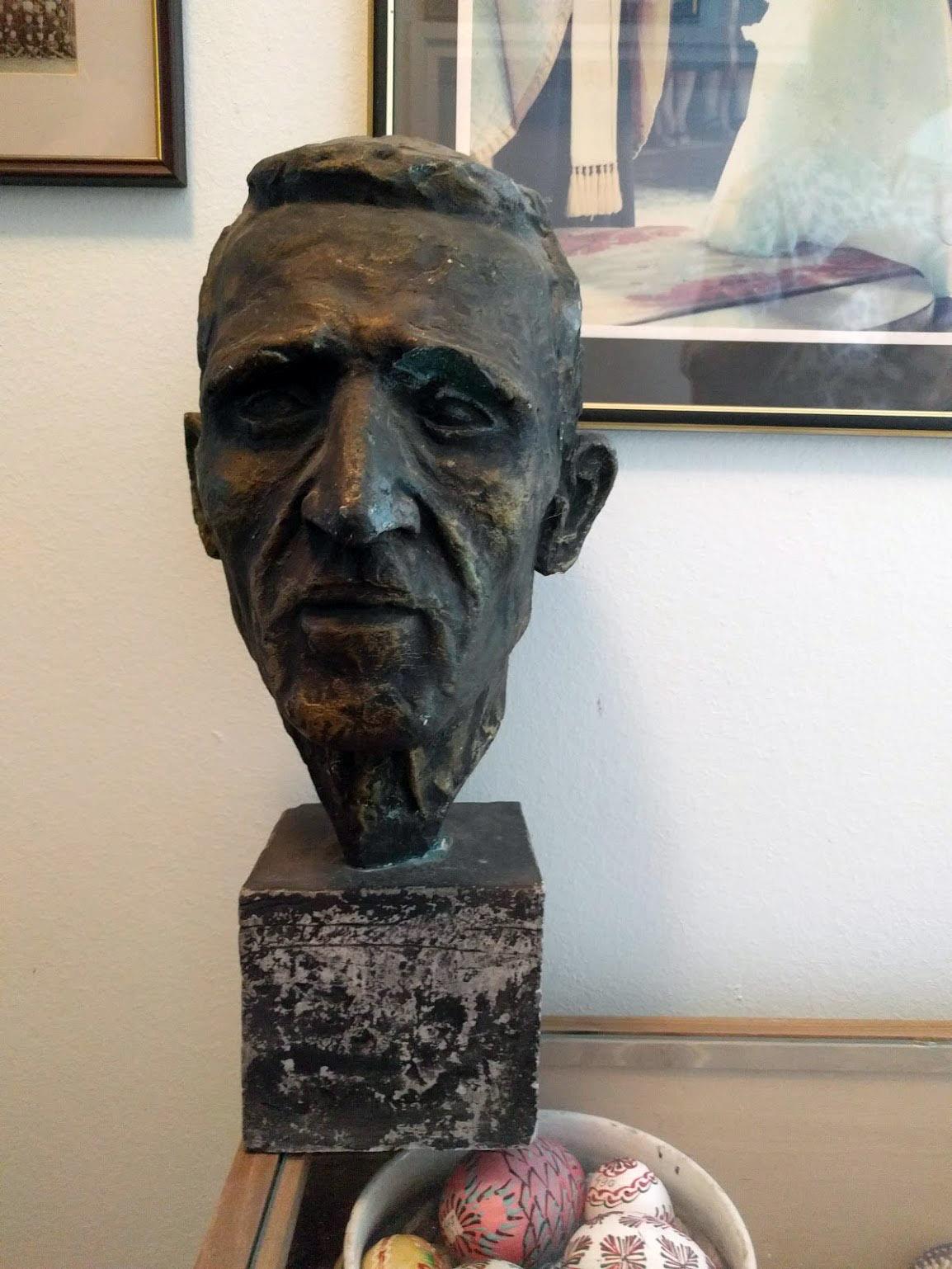 Bust of my grandfather Dragen by Julian Kolesar