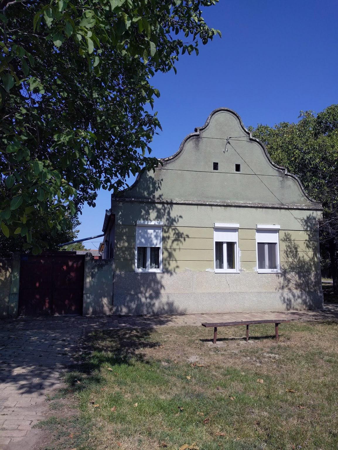 Traditional home with walnut tree in Djurdjevo, Serbia