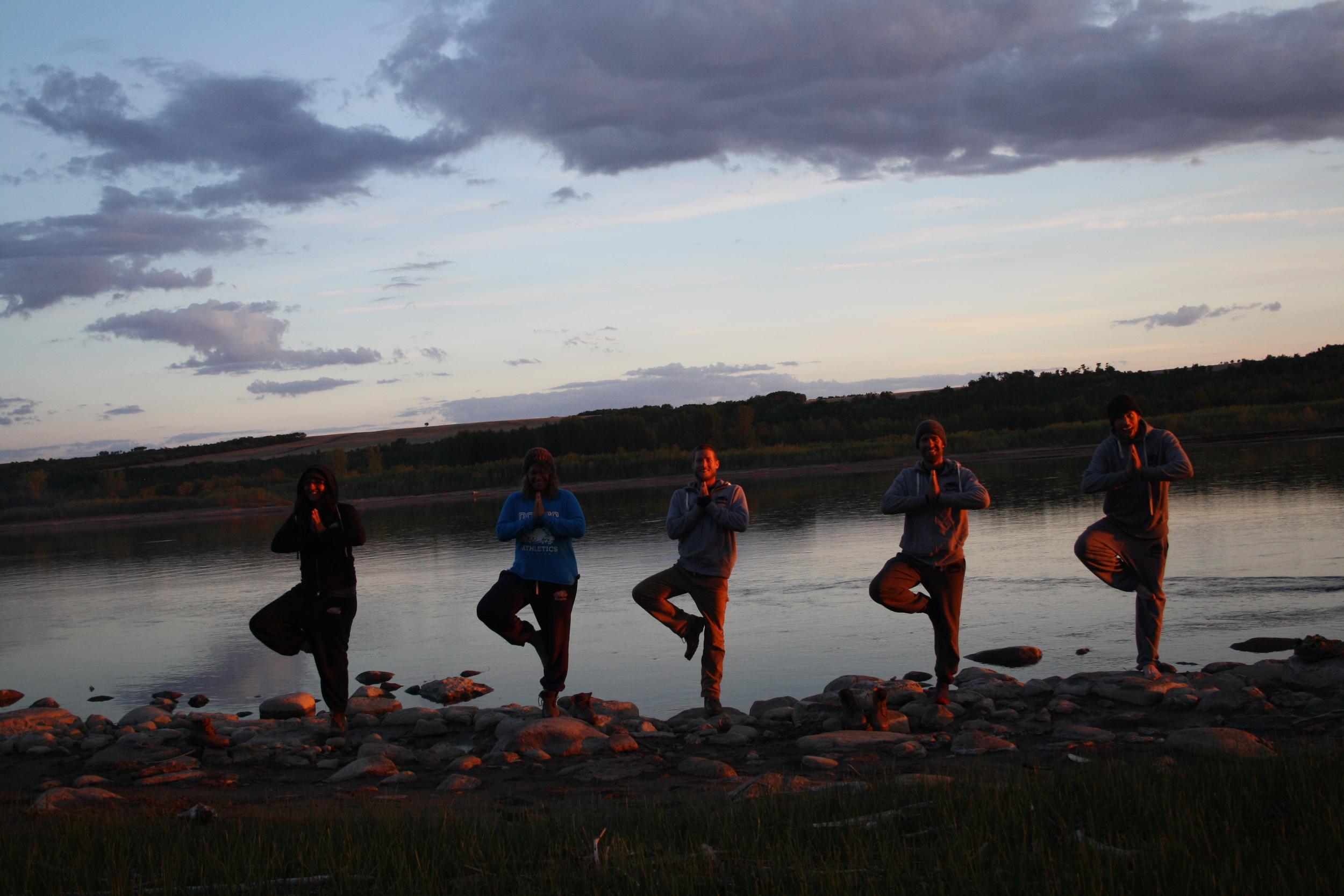 Sundown stretching in Saskatchewan.