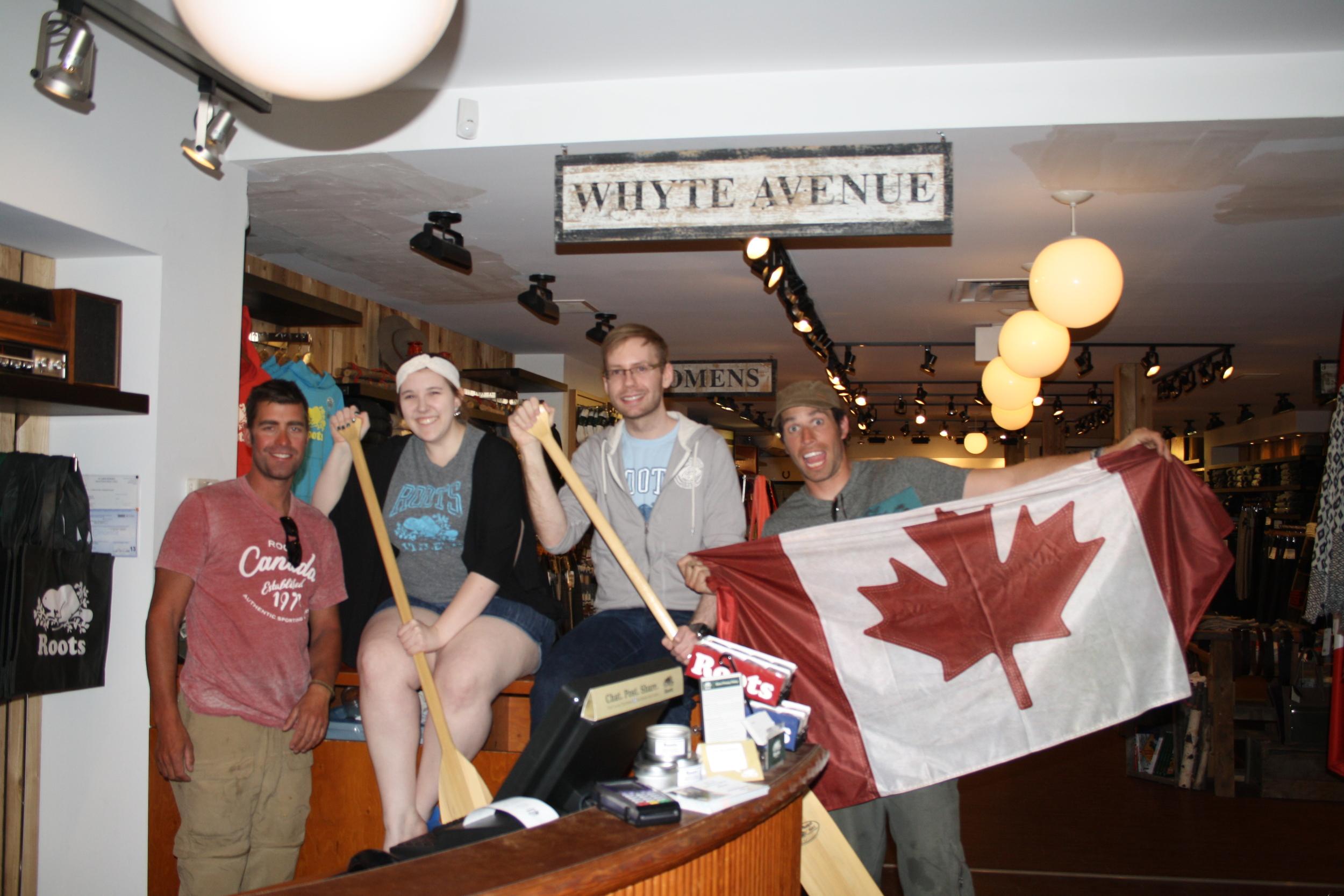 Roots Store visit in Edmonton