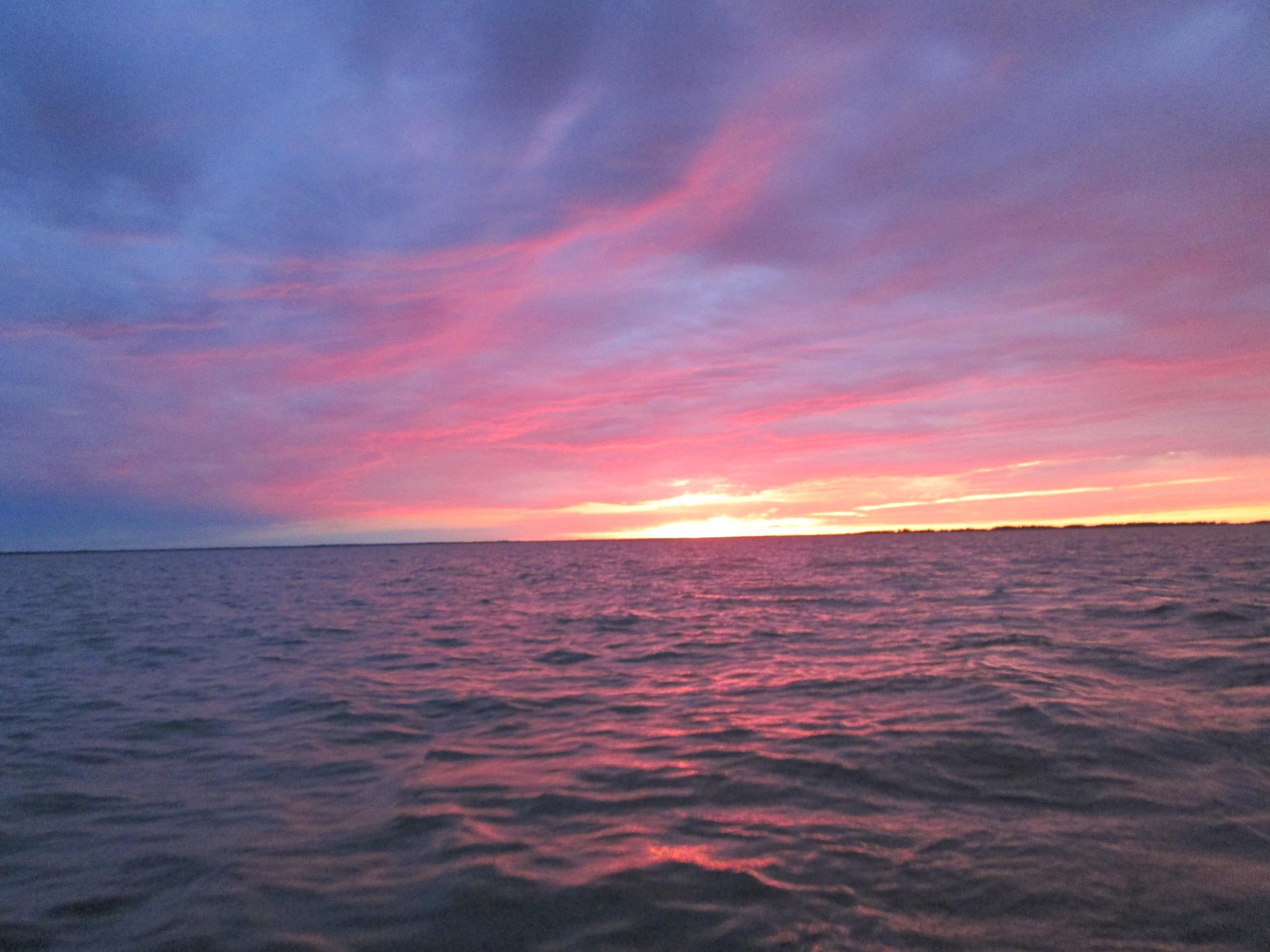 'Big lakes make big sunsets' Marc