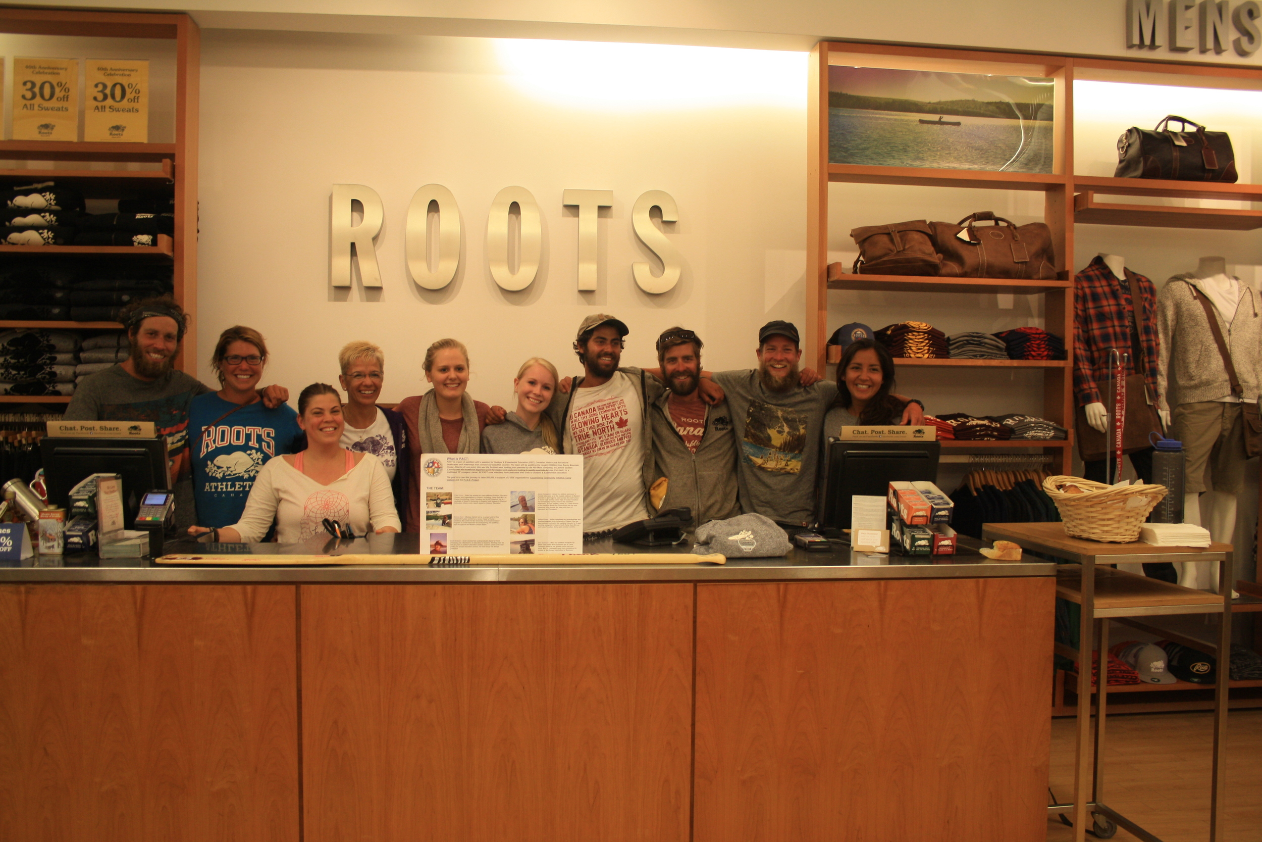 A warm welcome from Roots in North Bay