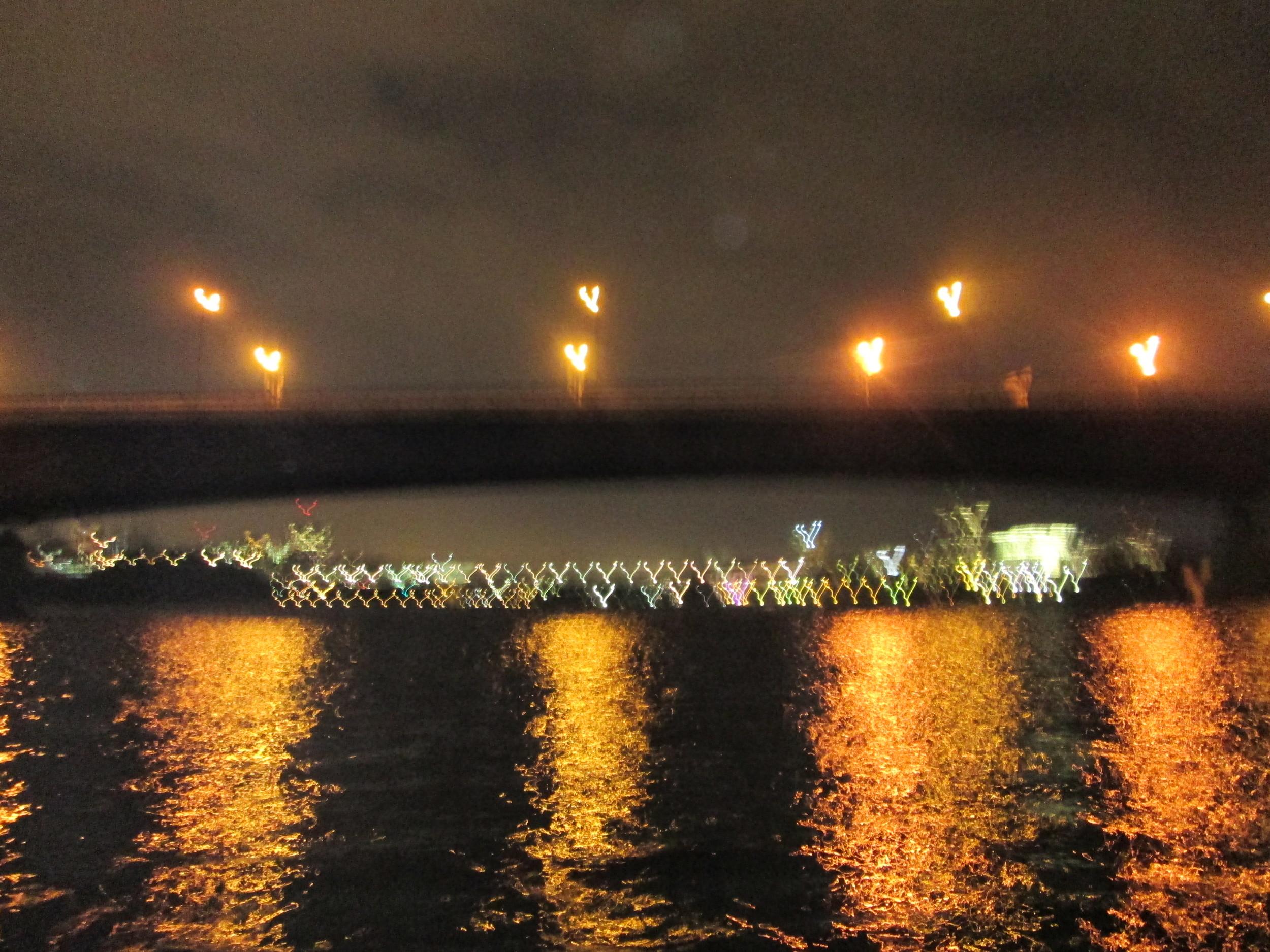 Paddling into Ottawa at night