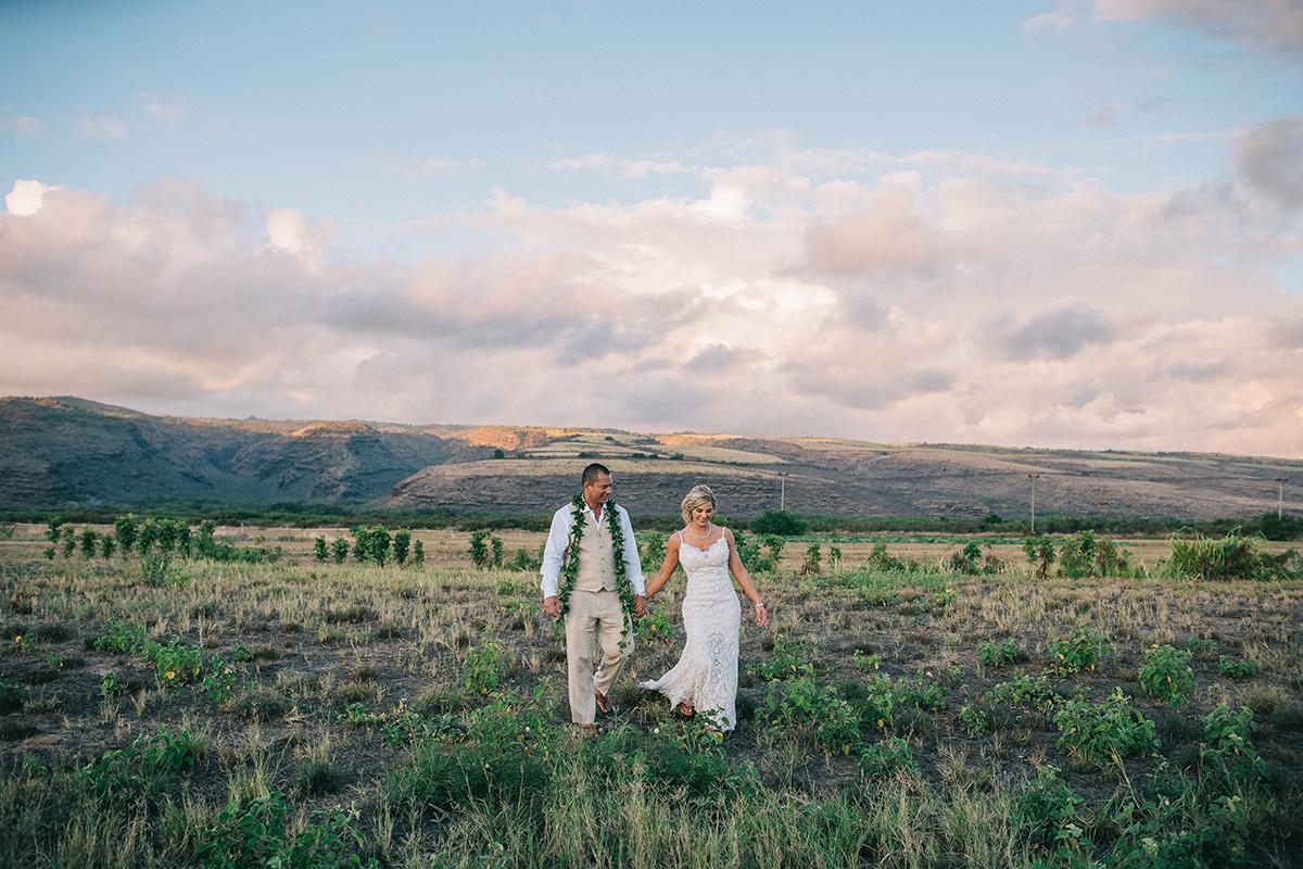 Lana & Reynold, Kekaha wedding