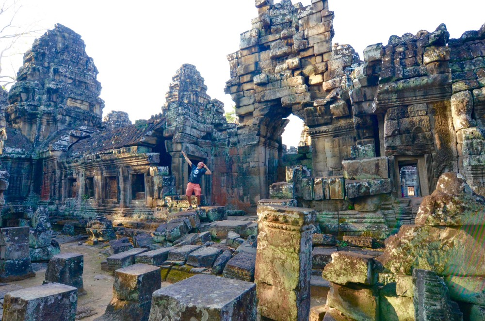Livin' free in the ruins of Angkor Wat, Cambodia.