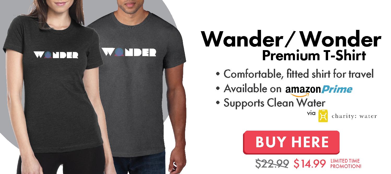 Wander Wonder Adventure and Travel T-Shirt
