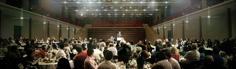 Tyndale University-  Auditorium Banquet Configuration