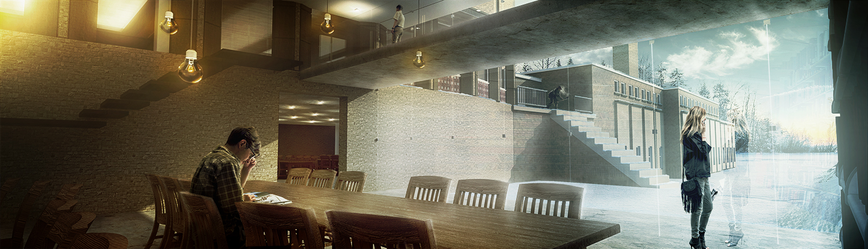 Tyndale University-  Library Addition Interior