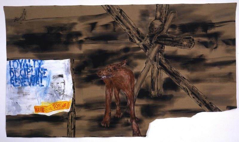 """Leon Golub """"Bite Your Tongue"""", 2001 at the Met Breuer"""