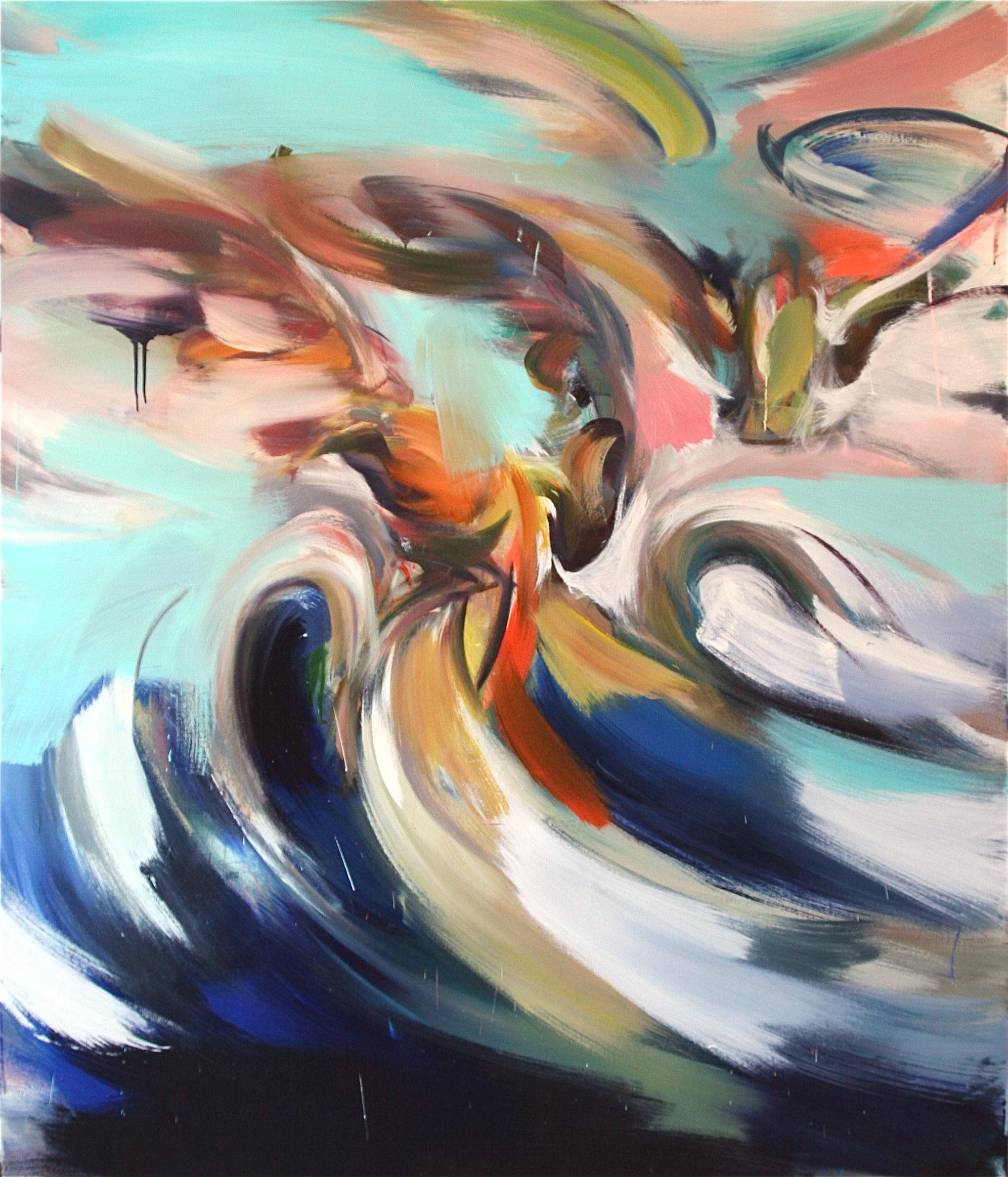 "2) ""Sit!,"" 2012 oil on canvas 76"" x 64"" $18,000"