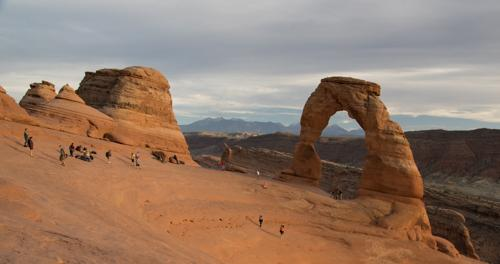 Delicate Arch - the crowds actually made way for the sunset photography