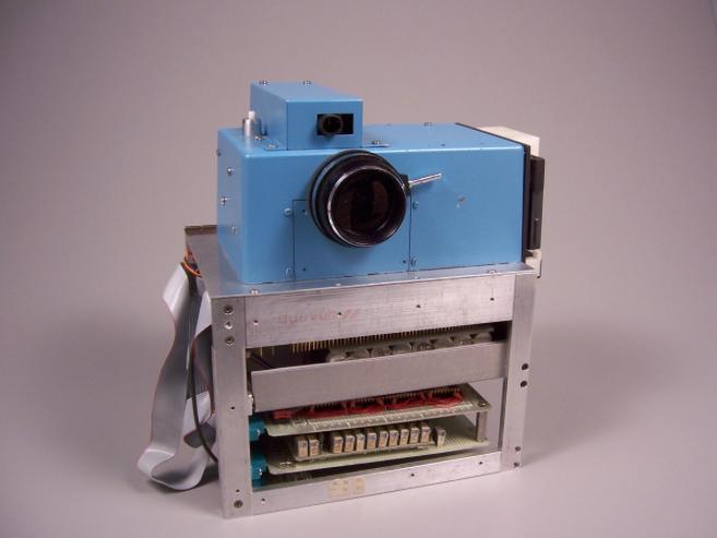 The first digital still camera constructed at Kodak Labs in 1975