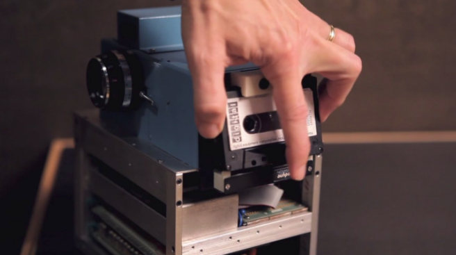 A cassette tape stored 30 images