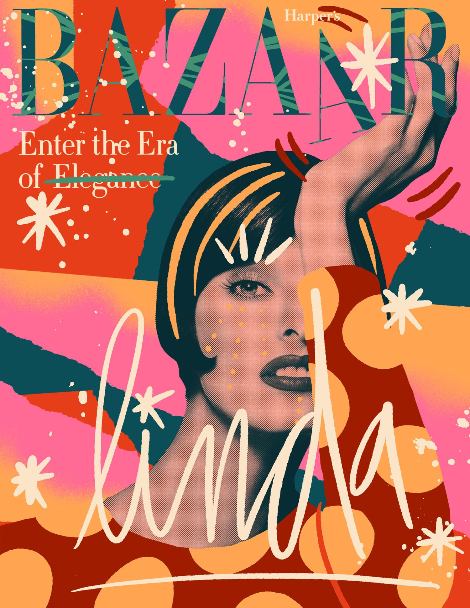 Harper's Bazaar - Illustration by David Weissberg