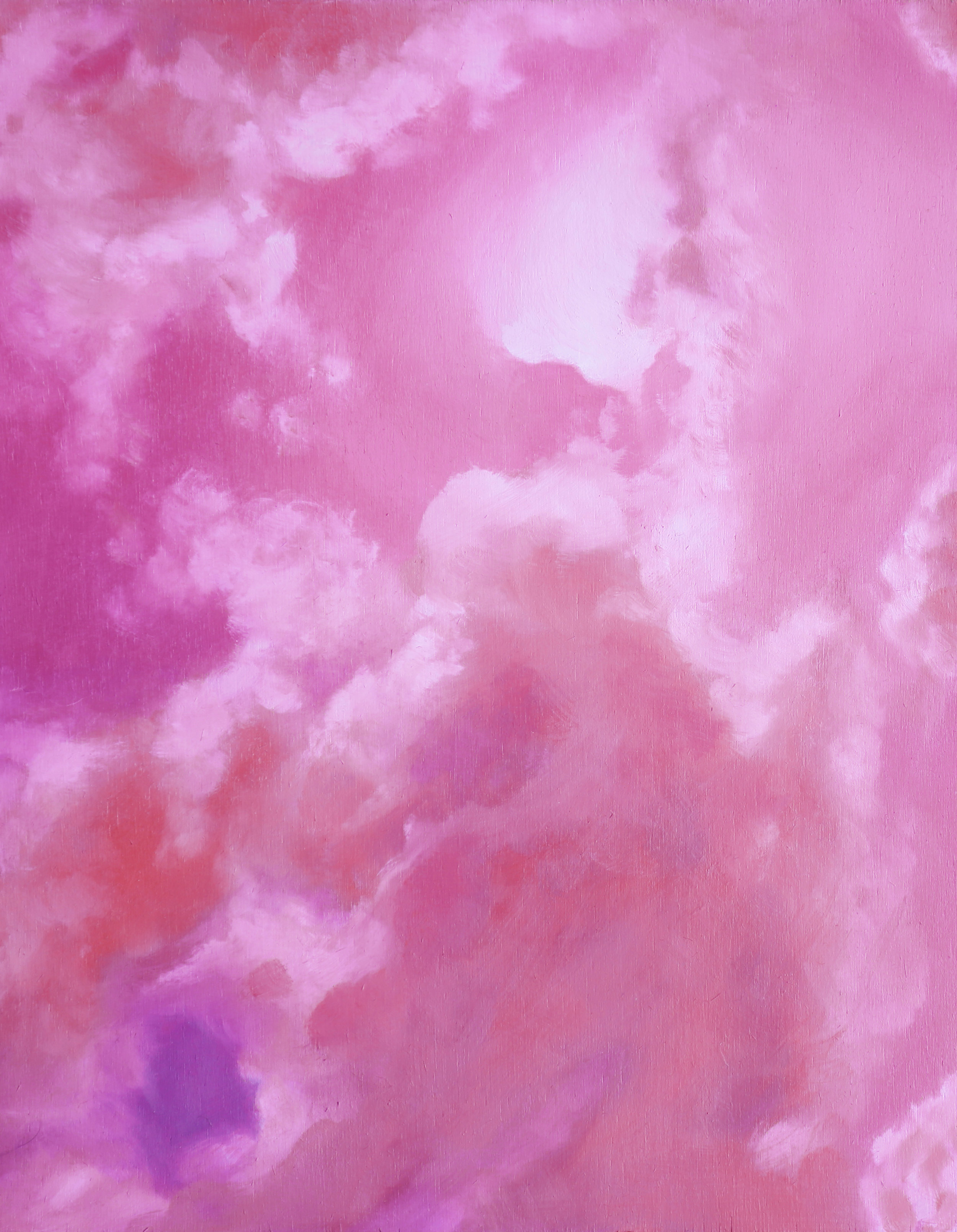 Cotton Candy Skies, 2018, Oil on wood panel