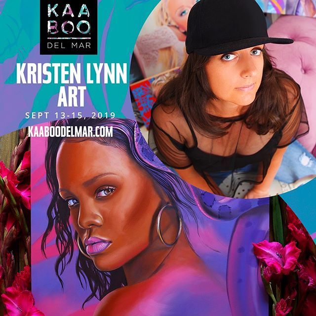Hey Southern California! 🌴☀️ I'm stoked to announce I've been invited to join @kaaboodelmar as an exhibiting artist this September. Scroll right to see the full music and art lineup, but bands include Kings of Leon, Duran Duran and many more! I had such an awesome time at the Texas festival so I'm super excited to do this again so close to home!!! To celebrate I have a discount code for you to receive $20 off 3-day passes to the festival! Head to kaaboodelmar.com/get-yours or check out my stories and swipe up! Promo code: KLART . . . . . #KAABOOdelmar #oilpainting #colorcolourlovers #artstudio #portraitartist #experiencecolor #artsupply #acolorstory #portraitpainting #laartist #sdart #californiaartist  #artsupplies #arttherapy  #sandiegoart #sandiego #kaaboo #artsupplies  #cloudlovers #artistspalette #artgallery #popart #cloudscape #gamblin #colorcompanion #contemporaryart #artstudio #kaabooartwork