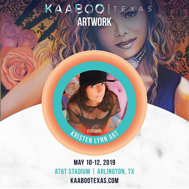 Super excited to announce I'll be an exhibiting artist at @kaabootexas! This awesome music, comedy and art festival is May 10-12 at AT&T Stadium in Arlington. Stoked to be showing my art along side awesome bands and artists including The Killers (!!!) Ms Lauryn Hill, and Alanis Morissette, to name a few. Scroll right for the full lineup and head to my stories for more details! 🤗💗 . . . . . #KAABOOtexas #oilpainting #colorcolourlovers #artstudio #portraitartist #experiencecolor #artsupply #acolorstory #portraitpainting #laartist #kaaboo #californiaartist  #artsupplies #arttherapy  #laartist #thekillers #laurynhill #artsupplies  #cloudlovers #artistspalette #artgallery #popart #cloudscape #gamblin #colorcompanion #contemporaryart #artstudio #ihavethisthingwithcolor