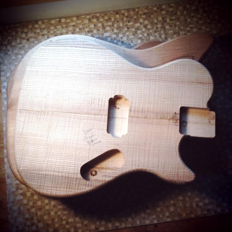 Haze BC-1 Ash Guitar Body