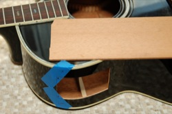 Guitar Repair - Acoustic side patch